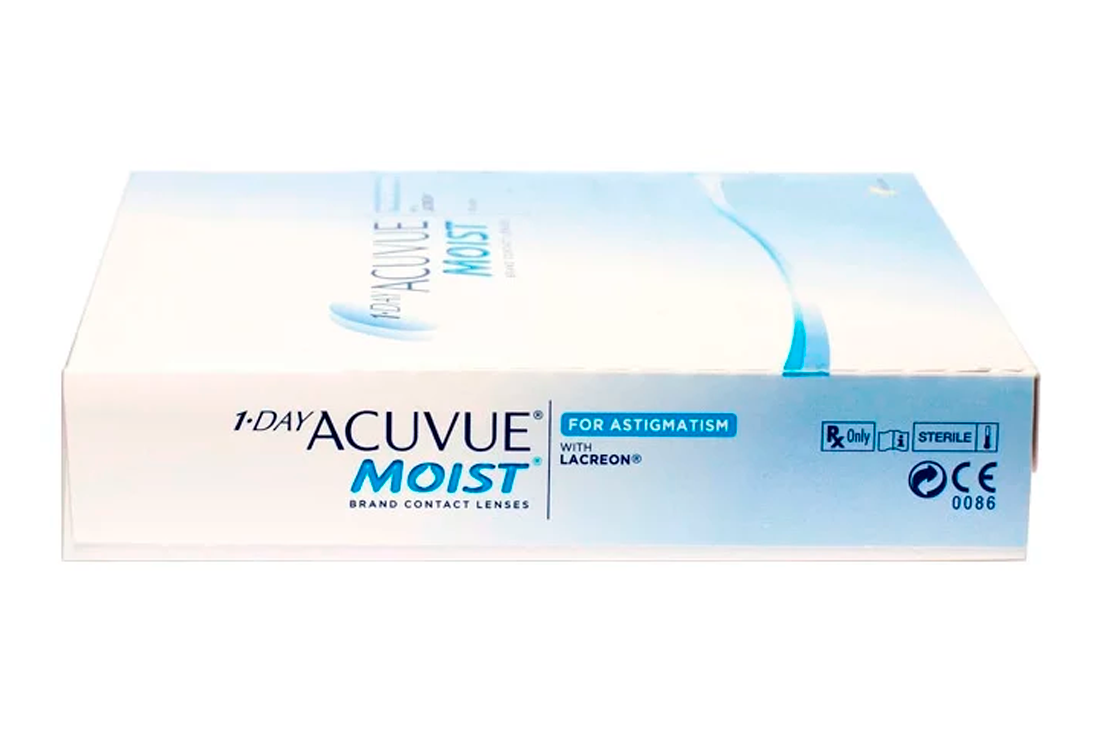 Контактные линзы Johnson & Johnson 1-Day Acuvue Moist For Astigmatism (90)